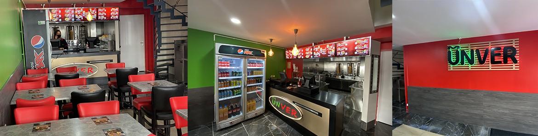 Intérieur du restaurant Unver Kebab Lille